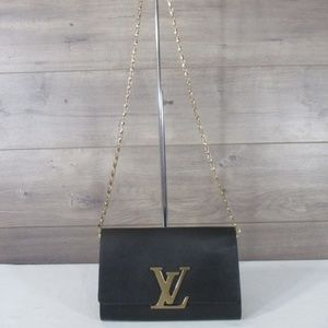 Louis Vuitton Louise Evening Chain Clutch Purse GM